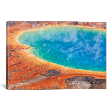 "Grand Prismatic Spring, Midway Geyser Basin, Yellowstone // Ingo Arndt (26""W x 18""H x 0.75""D)"