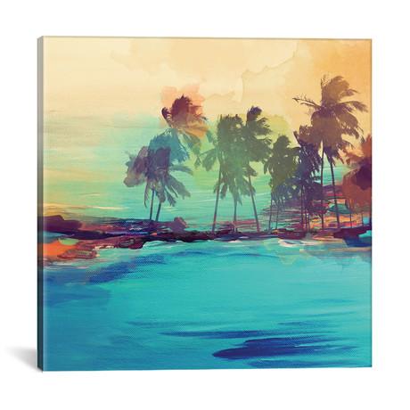 """Palm Island I // Irena Orlov (18""""W x 18""""H x 0.75""""D)"""