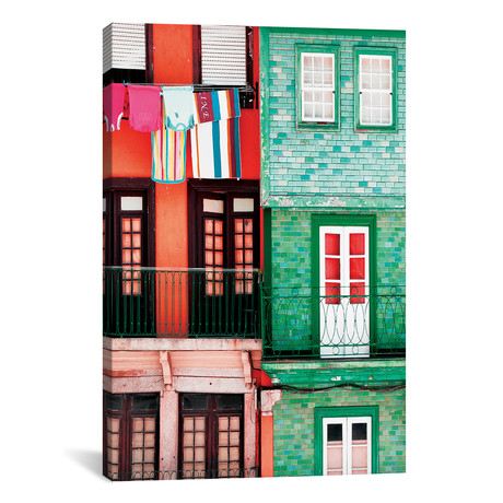 "Colourful Facades in Porto // Philippe Hugonnard (18""W x 26""H x 0.75""D)"