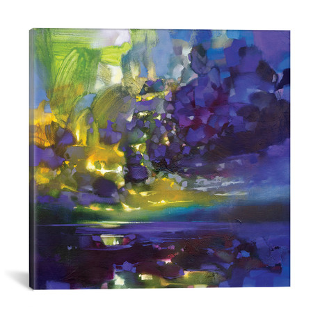 "Purple Movement // Scott Naismith (18""W x 18""H x 0.75""D)"