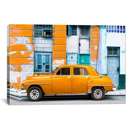 "Orange Classic American Car // Philippe Hugonnard (26""W x 18""H x 0.75""D)"
