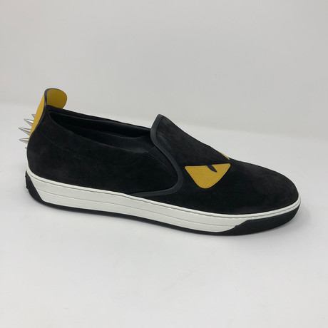 Slip-On Sneaker In Black Leather // Black (US: 5)