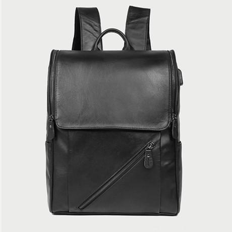 Backpack // Square Flap // Black