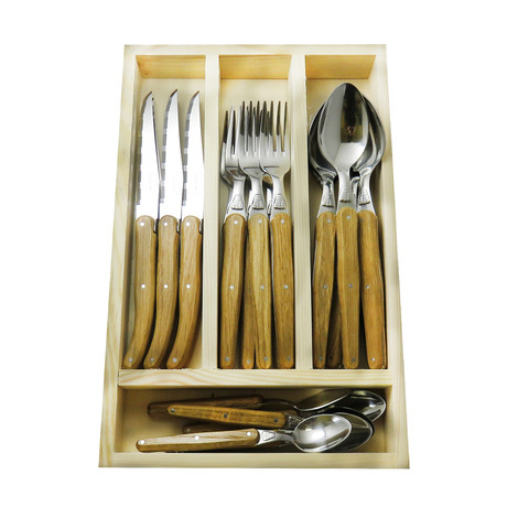 Jean Dubost Flatware Set // 24 Pieces