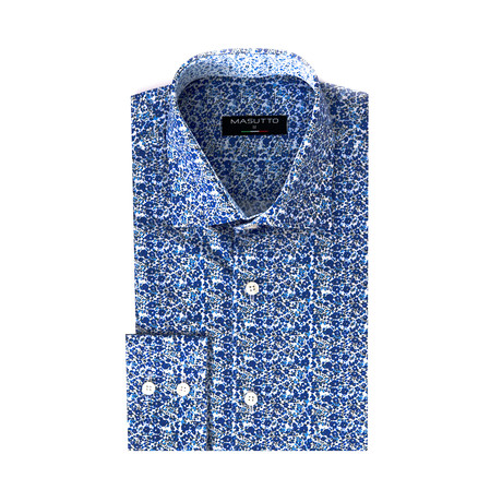 Noa Dress Shirt // Blue (XS)