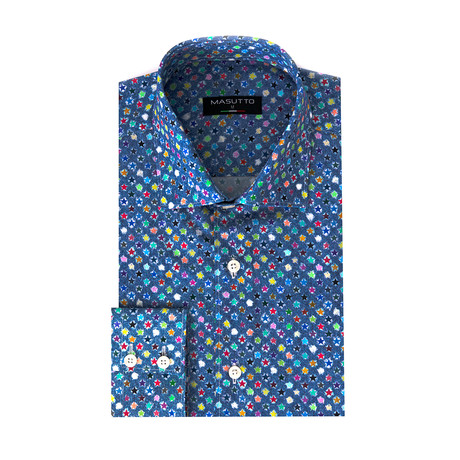Migos Dress Shirt // Multicolor (XS)