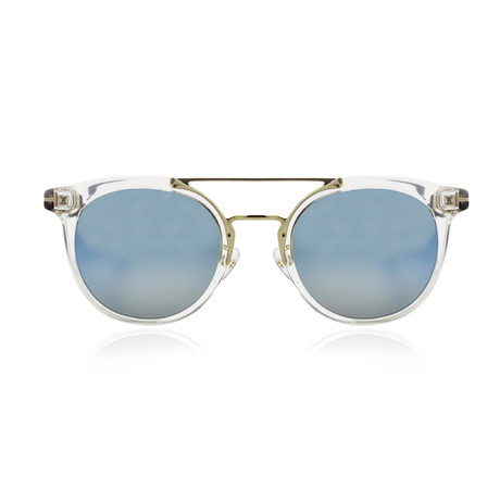 Tom Ford // Oval Sunglasses // Clear + Blue