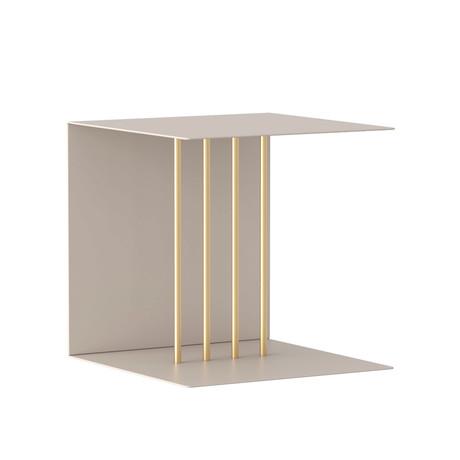 Teaser Metal Shelf (Pearl White)