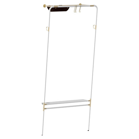Lean On Me Clothes Rack (White)