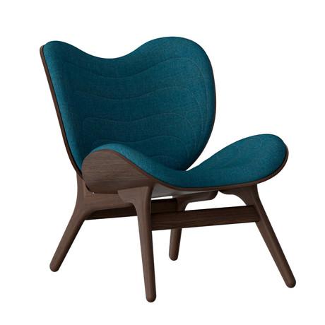 A Conversation Piece Armchair // Dark Oak (Silver Gray)
