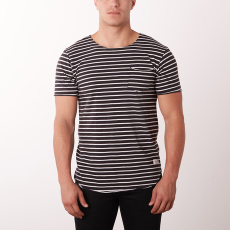Nautical Fashion Tee // Black + White (S)