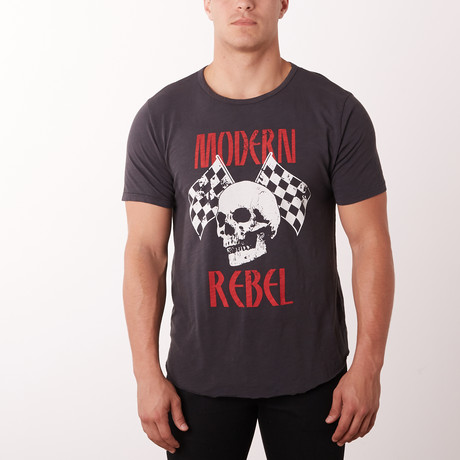 Skull Rebel Graphic Tee // Vintage Black (S)