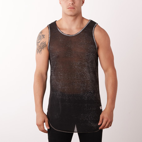 Seawash Distressed Fashion Tank // Grey (S)