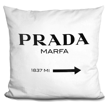 "Marfa Black Throw Pillow (16"" x 16"")"