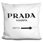 """Marfa Black Throw Pillow (16"""" x 16"""")"""