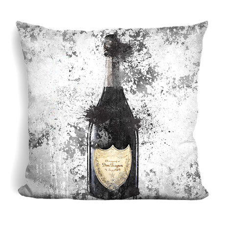 "Champagne Inky II Throw Pillow (16"" x 16"")"