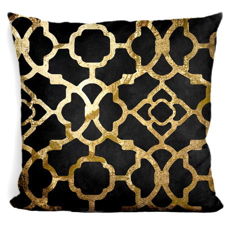"Moroccan Gold IV Throw Pillow (16"" x 16"")"