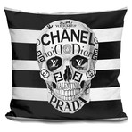 "Couture To The Bone Throw Pillow (16"" x 16"")"