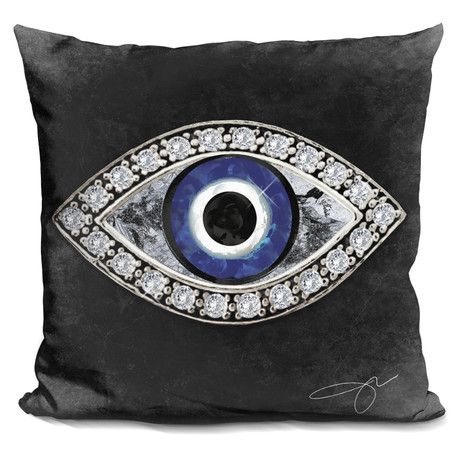"Evil Eye II Throw Pillow (16"" x 16"")"