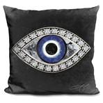 "Evil Eye II Throw Pillow (16"" x 16"")"