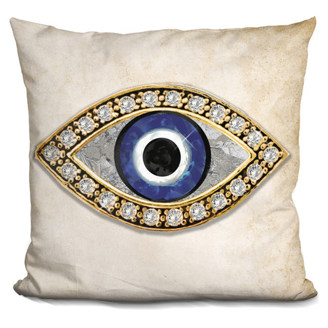 "Evil Eye I Throw Pillow (16"" x 16"")"