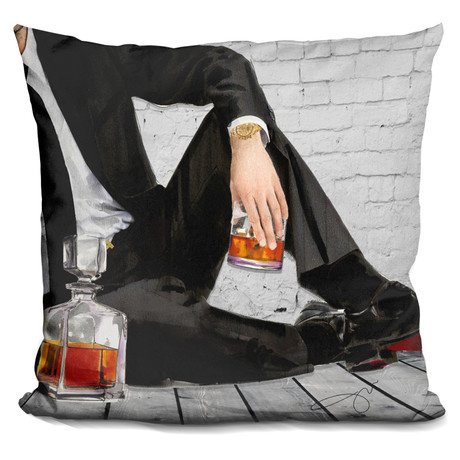 "On The Rocks Throw Pillow (16"" x 16"")"