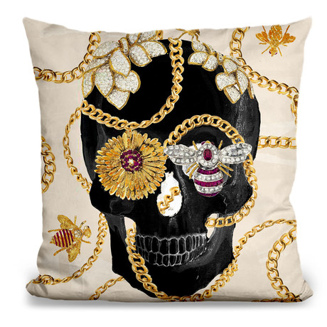 "Gold Digger I Throw Pillow (16"" x 16"")"