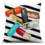 "Designer Drugs Throw Pillow (16"" x 16"")"