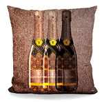 "Champagne Lover Throw Pillow (16"" x 16"")"