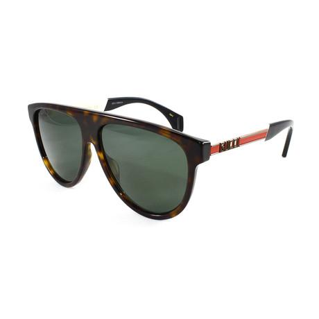 Men's GG0462S Sunglasses // Havana + White