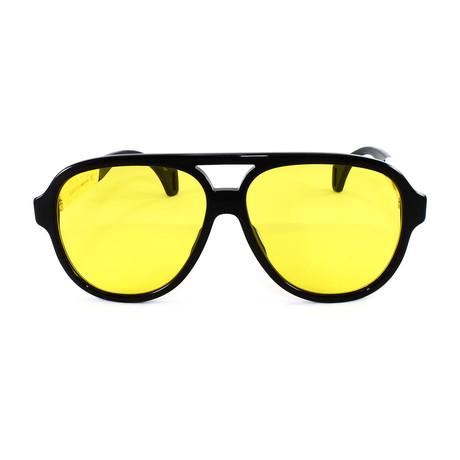 Men's Sunglasses GG0463S Sunglasses // Black + White
