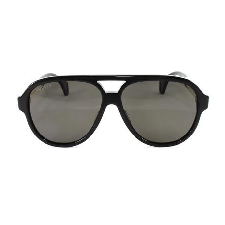Unisex Sunglasses GG0463S Sunglasses // Black + White Polarized