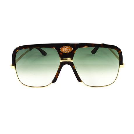Men's Sunglasses GG0478S Sunglasses V1 // Havana + Gold