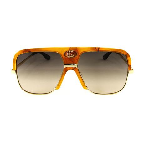 Men's Sunglasses GG0478S Sunglasses V2 // Havana + Gold