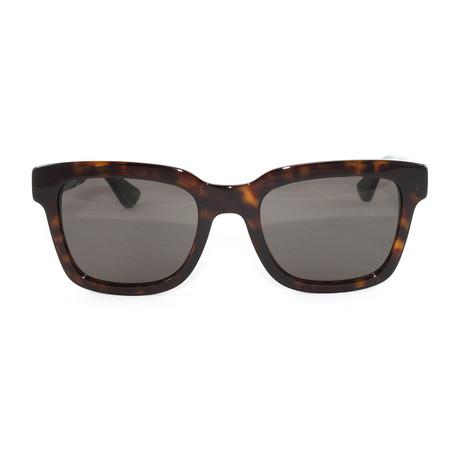 Unisex  GG0001S Sunglasses // Havana Green + Red