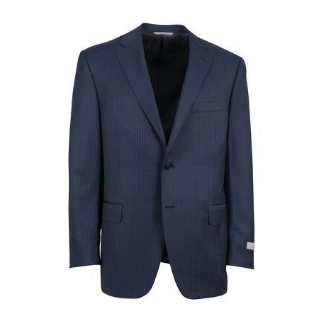 Water Resistant Wool 2 Button Suit // Blue (US: 46S)