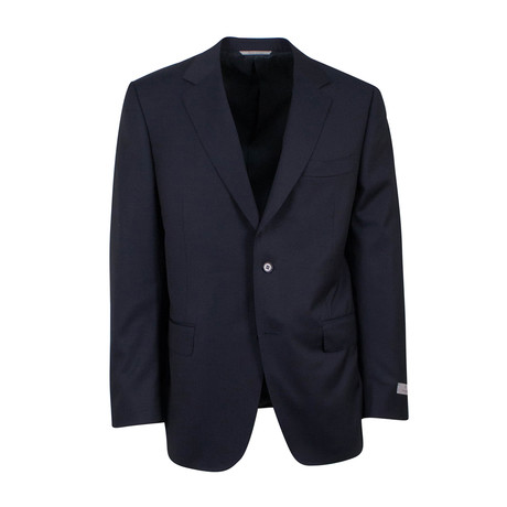 Wool 2 Button Classic Fit Suit  // Black (US: 46S)