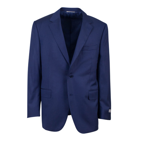 Wool 2 Button Classic Fit Suit // Blue (US: 46S)