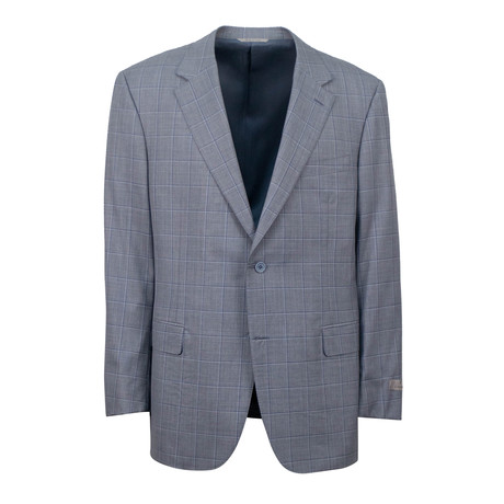 Plaid Wool 2 Button Suit // Light Gray (US: 46S)