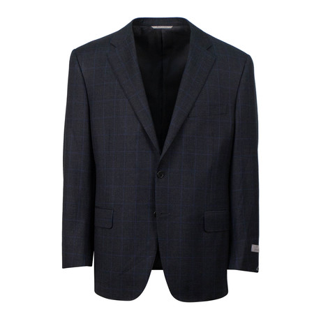 Plaid Wool 2 Button Suit // Dark Gray (US: 46S)