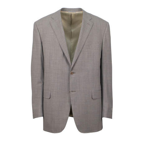 Wool 2 Button Suit // Tan (US: 46S)