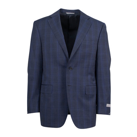 Plaid Wool 2 Button Suit // Gray (US: 46S)