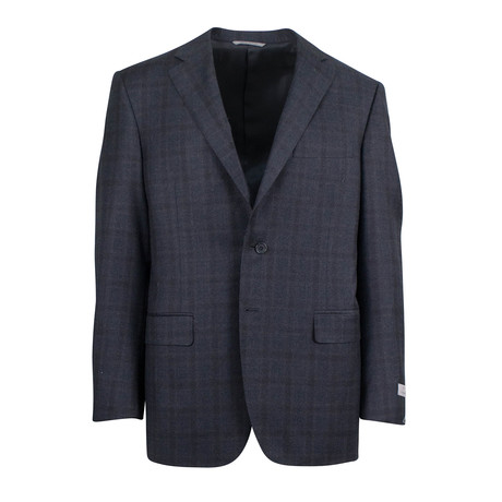 Windowpane Wool 2 Button Suit // Charcoal (US: 46S)