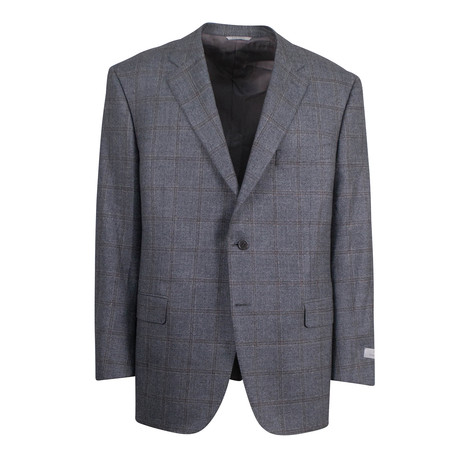 Windowpane Wool 2 Button Suit // Gray (US: 46S)