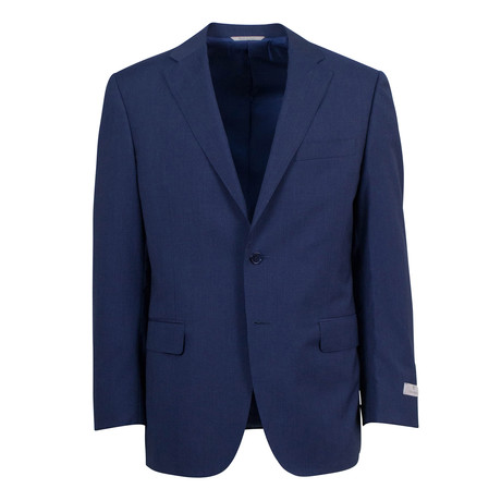Striped Wool 2 Button Suit // Blue (US: 46S)