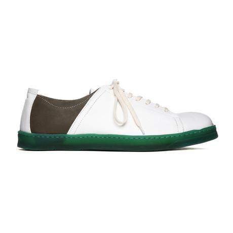 Tennis Shoes // White + Green (Euro: 38)