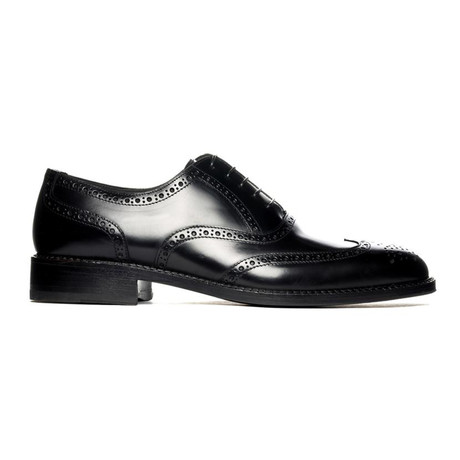 Mayfair Perforated Oxford // Black (Euro: 38)