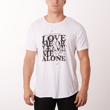 Love Me Graphic Tee // White (S)