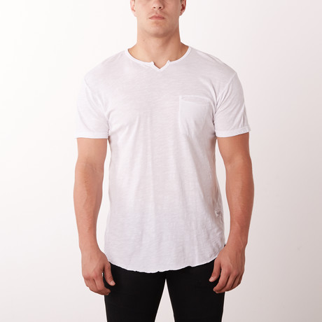 Mamba Notch Neck Fashion Tee // White (S)