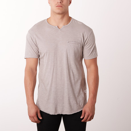 Mamba Notch Neck Fashion Tee // Slate (S)